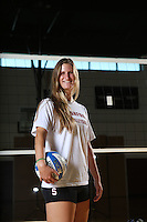 STANFORD, CA - August 12, 2014 - Grace Kennedy of the Stanford Women's Volleyball Team.