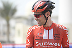 Tom Dumoulin (NED) Team Sunweb signs on before the start of Stage 5 of the 2019 UAE Tour, running 181km form Sharjah to Khor Fakkan, Dubai, United Arab Emirates. 28th February 2019.<br /> Picture: LaPresse/Fabio Ferrari | Cyclefile<br /> <br /> <br /> All photos usage must carry mandatory copyright credit (&copy; Cyclefile | LaPresse/Fabio Ferrari)