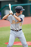 Richie Shaffer (12) of the Montgomery Biscuits at bat against the Chattanooga Lookouts at AT&T Field on July 23, 2014 in Chattanooga, Tennessee.  The Lookouts defeated the Biscuits 6-5. (Brian Westerholt/Four Seam Images)
