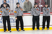 Tom Fyrer, Chris Leavitt, Paul Sacco, Tim Kerrigan - The Boston College Eagles defeated the visiting UConn Huskies 4-0 on Friday, October 30, 2015, at Kelley Rink in Conte Forum in Chestnut Hill, Massachusetts.