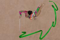 Anan Gurbanova (AZE) performs with the ribbon during the final of the 2nd Garantiqa Rythmic Gymnastics World Cup held in Debrecen, Hungary. Sunday, 07. March 2010. ATTILA VOLGYI