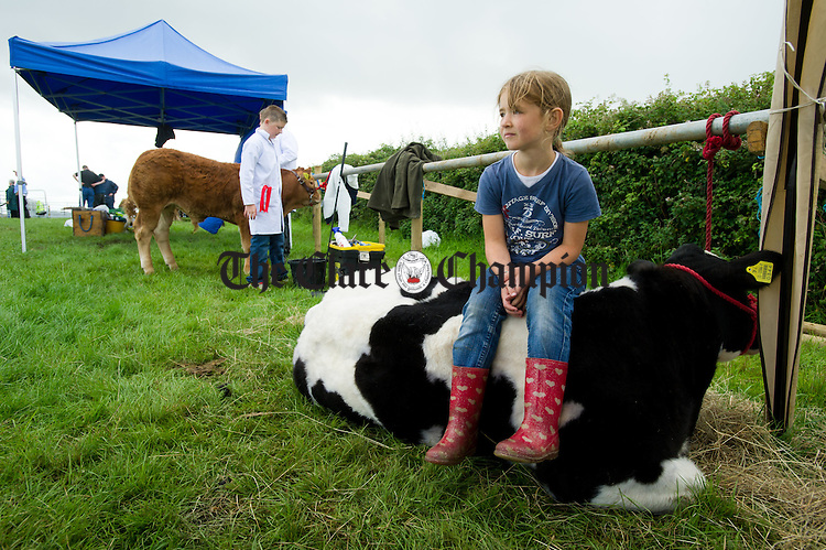 Naoise Conlon of Ballyea,  Inagh rests for a while at Kildysart Show. Photograph by John Kelly.