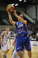 Izayah Le'afa in action during the national basketball league match between Wellington Saints and Waitakere Rangers at TSB Bank Arena, Wellington, New Zealand on Tuesday, 25 June7 May 2013. Photo: Dave Lintott / lintottphoto.co.nz