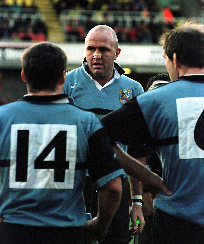 Photo. Richard Lane. .Saracens v Cardiff. 17/1/99..Cardiff lock, Derwyn Jones..