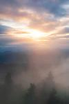 Breaking storm at sunset over the Nantahala National Forest, Blue Ridge Parkway, North Carolina