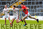 Mark Reen Rathmore and Daniel O'Brien East Kerry clash during their SFC clash in Fitzgerald Stadium on Sunday