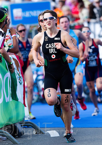 12 SEP 2010 - BUDAPEST, HUN - Laura Casey (IRL) - 2010 ITU Junior Womens World Championships (PHOTO (C) NIGEL FARROW)