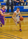 22 November 2015: Yeshiva University Maccabee Guard Jordan Hod, a Junior from Teaneck, NJ, in first half action against the Hunter College Hawks at the Max Stern Athletic Center  in New York, NY. The Maccabees defeated the Hawks 81-71 in non-conference play, for their second win of the season. Mandatory Credit: Ed Wolfstein Photo *** RAW (NEF) Image File Available ***