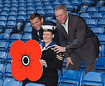 Lee McCulloch and Ally McCoist with Leading Hand Angela Comrie (Regional RN HQ Rosyth)