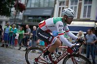 Italian Champion Giacomo Nizzolo (ITA/Trek-Segafredo)<br /> <br /> Post-Tour criterium Mechelen (Belgium) 2016
