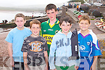 BOYS A ROWING: Enjoying the Brandon Regatta on Sunday l-r: William Goodwin, Steven Griffin, Patrick Hussey, Vincent Hussey and Eoin Kennedy, Castlegregory.