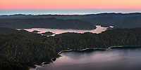 Dawn over Lake Waikaremoana, Te Urewera, Hawke's Bay, North Island, New Zealand, NZ