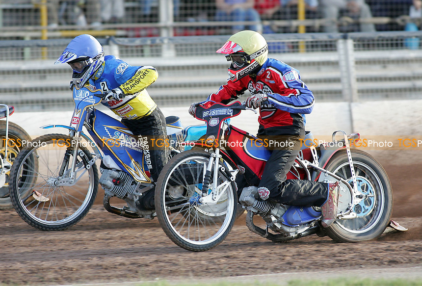 Heat 1 - Bager (yellow), Jansson - Ipswich Witches vs Lakeside Hammers - Elite League Speedway at Arena Essex - 21/06/07 - MANDATORY CREDIT: Gavin Ellis/TGSPHOTO - SELF-BILLING APPLIES WHERE APPROPRIATE. NO UNPAID USE -  Tel: 0845 0946026