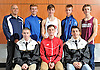 The Newsday All-Long Island varsity boys cross country team poses for a group  photo shoot at company headquarters on Tuesday, Dec. 6, 2016. Appearing are, FRONT ROW, FROM LEFT: Christopher Tibbetts - Sachem North (Runner of the Year), Peter Zimbalist - Syosset and Jonathan Lauer - Sachem North. BACK ROW, FROM LEFT: Coach Peter Schiek - Smithtown, Tim Euler - East Meadow, Michael Grabowski - Smithtown, Kal Lewis - Shelter Island and Trevor Marchhart - Garden City.