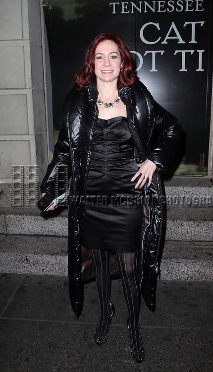 Carrie Preston attending the Broadway Opening Night Performance of 'Cat On A Hot Tin Roof' at the Richard Rodgers Theatre in New York City on 1/17/2013