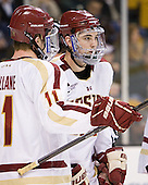 (Mullane) Edwin Shea (BC - 8) - The Boston College Eagles defeated the Providence College Friars 4-2 in their Hockey East semi-final on Friday, March 16, 2012, at TD Garden in Boston, Massachusetts.