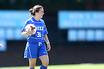30 August 2013: Duke's Christina Gibbons. The Duke University Blue Devils played the Kennesaw State University Owls at Fetzer Field in Chapel Hill, NC in a 2013 NCAA Division I Women's Soccer match. Duke won 1-0.