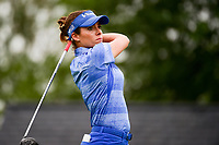 Gaby Lopez (MEX) watches her tee shot on 1 during Friday's second round of the 72nd U.S. Women's Open Championship, at Trump National Golf Club, Bedminster, New Jersey. 7/14/2017.<br /> Picture: Golffile | Ken Murray<br /> <br /> <br /> All photo usage must carry mandatory copyright credit (&copy; Golffile | Ken Murray)