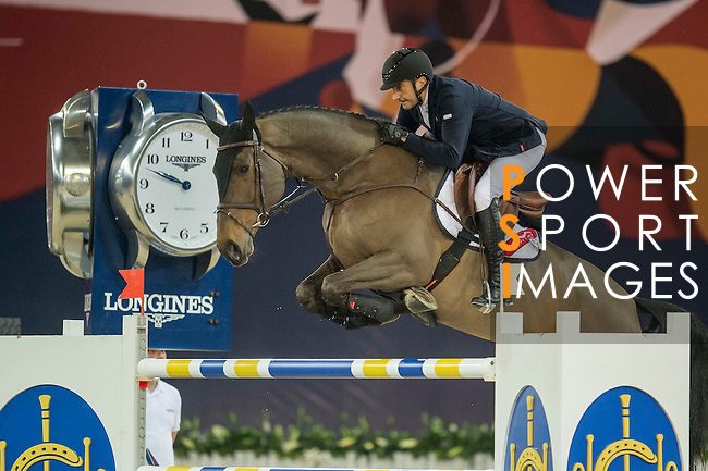 Piergiorgio Bucci of Italy riding Driandria during the Hong Kong Jockey Club Trophy competition, part of the Longines Masters of Hong Kong on 10 February 2017 at the Asia World Expo in Hong Kong, China. Photo by Juan Serrano / Power Sport Images