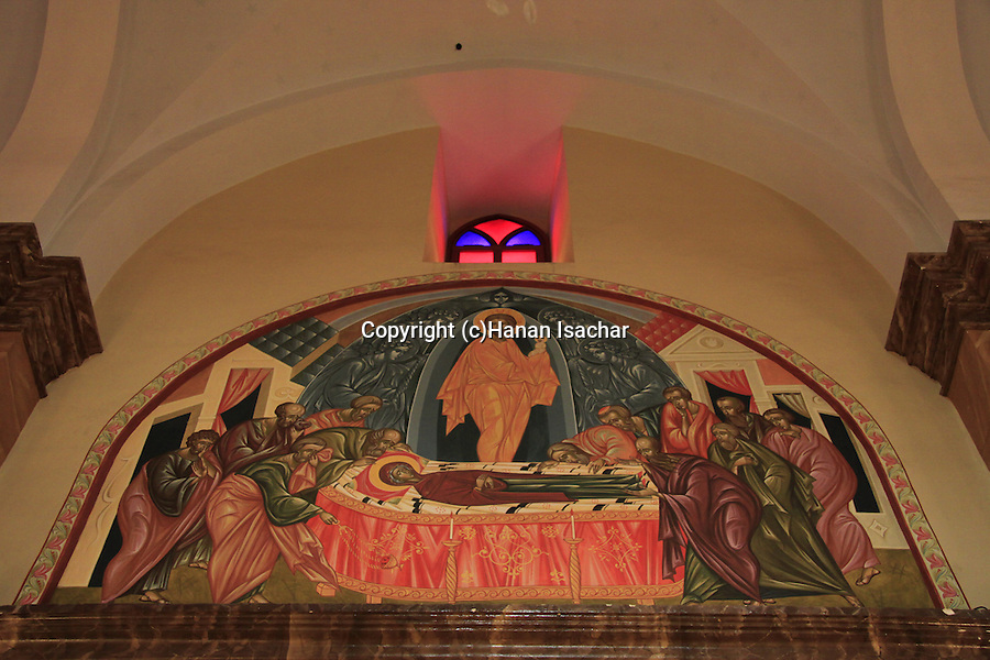 Israel, Lower Galilee, a painting at the Greek Catholic Synagoge Church in Nazareth
