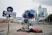 Hong Kong, Government Offices, 2 October 2014<br /> <br /> Students and other supporters of the Occupy Central movement congregating around the government offices area at Tamar. All the roads in the area are blocked from traffic and public transport.<br /> <br /> Photo Kees Metselaar