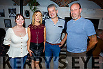 Louise Lovett from Tralee celebrating her birthday in Croi on Saturday night.  <br /> L-r, Mary Fallon, Louise and Pat Lovett and Gordon Fallon.