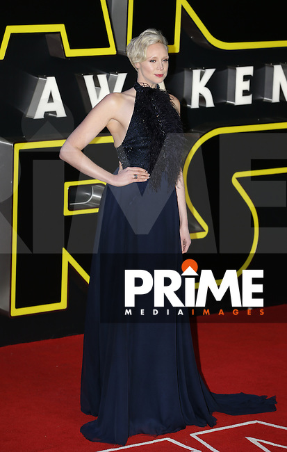 Gwendoline Christie attends the STAR WARS: 'The Force Awakens' EUROPEAN PREMIERE at Odeon, Empire & Vue Cinemas, Leicester Square, England on 16 December 2015. Photo by David Horn / PRiME Media Images