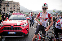 Tiesj Benoot (BEL/Lotto-Soudal) at the finish<br /> <br /> 113th Il Lombardia 2019 (1.UWT)<br /> 1 day race from Bergamo to Como (ITA/243km)<br /> <br /> ©kramon