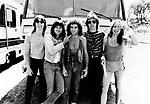 Journey 1981 Ross Valory, Steve Perry, Neal Schon, Jonathan Cain, Steve Smith at Mountain Aire Festival.© Chris Walter.