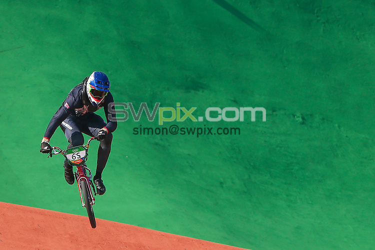 Picture by Alex Whitehead/SWpix.com - 17/08/2016 - 2016 Rio Olympic Games - BMX - Olympic BMX Centre, Rio de Janeiro, Brazil - Great Britain's Liam Phillips in action during the Men's Seeding Run.