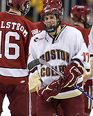 Brian Gibbons (BC - 17) - The Boston College Eagles defeated the Harvard University Crimson 6-0 on Monday, February 1, 2010, in the first round of the 2010 Beanpot at the TD Garden in Boston, Massachusetts.