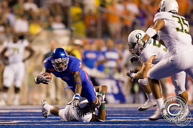 Boise State Broncos football tean defeated the Oregon Ducks 19-8 in the 2009 season opener Thursday September 3rd in Bronco Stadium in Boise Idaho.