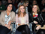 Louise Carey, Emma and Christine Mannery pictured at the Jason Byrne show in the Barbican centre. Photo: Colin Bell/pressphotos.ie