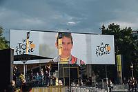 Picture by Russell Ellis/russellis.co.uk/SWpix.com - image archived on 25/04/2019 Cycling Tour de France 2018 - Team Sky at the Tour de France - STAGE 21: HOUILLES - PARIS Champs-Elysées 29/07/2018<br /> - Podium
