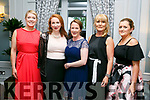 Enjoying  The Midsummer's Ball in aid of the Palliative Care Unit at the Rose Hotel on Friday were Jessica Lyon, Niamh Murphy, Muriel Devane, Tina Power, Gillian Buckley