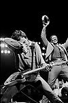 Bruce Springsteen 1981 with Clarence Clemons at LA Sports Arena..© Chris Walter..