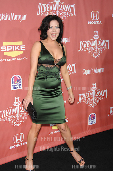 """Christa Campbell at Spike TV's """"Scream 2007"""" Awards honoring the best in horror, sci-fi, fantasy & comic genres, at the Greak Theatre, Hollywood..October 20, 2007  Los Angeles, CA.Picture: Paul Smith / Featureflash"""