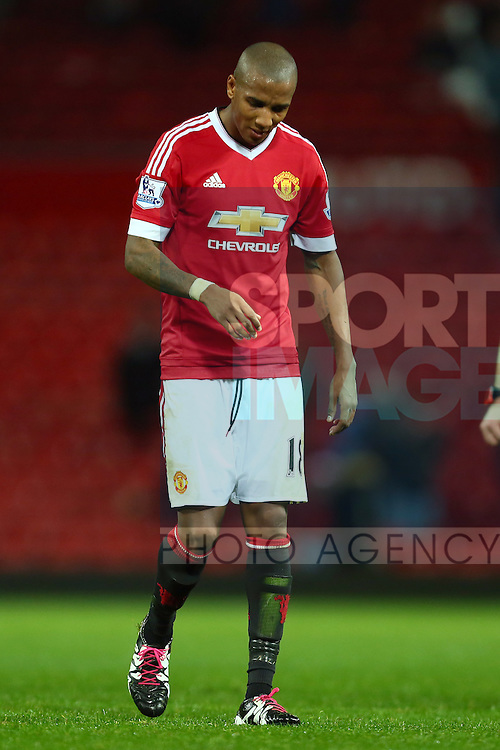 Ashley Young of Manchester United dejected - Manchester United vs Norwich City - Barclays Premier League - Old Trafford - Manchester - 19/12/2015 Pic Philip Oldham/SportImage