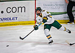 9 February 2020: University of Vermont Catamount Defender Anna Erickson, a Junior from Stillwater, MN, in 3rd period action against the University of Connecticut Huskies at Gutterson Fieldhouse in Burlington, Vermont. The Lady Cats defeated the Huskies 6-2 in the second game of their weekend Hockey East series. Mandatory Credit: Ed Wolfstein Photo *** RAW (NEF) Image File Available ***