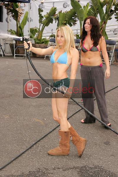 EG Daily and Lindsey Labrum<br /> at the American Red Cross and American Apparel Celebrity Bikini Car Wash to benefit Hurricane Katrina Victims, Shelter Nightclub, West Hollywood, CA 09-24-05<br /> David Edwards/DailyCeleb.Com 818-249-4998