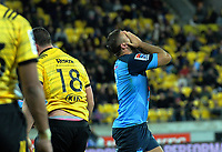 Bulls Jaco Visagie reacts to a decision during the Super Rugby quarterfinal between the Hurricanes and Bulls at Westpac Stadium in Wellington, New Zealand on Saturday, 22 June 2019. Photo: Dave Lintott / lintottphoto.co.nz