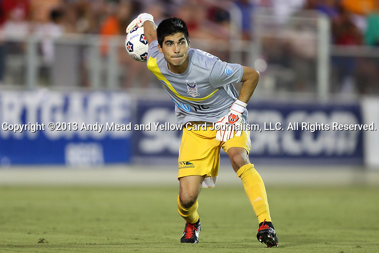 12 June 2013: Carolina's Akira Fitzgerald. The North American Soccer League's Carolina RailHawks hosted Major League Soccer's CD Chivas USA at WakeMed Stadium in Cary, NC in a 2013 Lamar Hunt U.S. Open Cup fourth round game. Carolina won the game 3-1 after extra time.