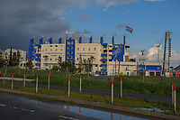 20190304 - LARNACA , CYPRUS : Antonis Papadopoulos Stadium Larnaca pictured during a women's soccer game between Finland and Korea DPR , on Monday 4 March 2019 at the Antonis Papadopoulos Stadium in Larnaca , Cyprus . This is the third game in group A for Both teams during the Cyprus Womens Cup 2019 , a prestigious women soccer tournament as a preparation on the Uefa Women's Euro 2021 qualification duels. PHOTO SPORTPIX.BE | STIJN AUDOOREN