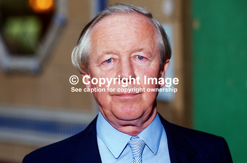 Sir Marcus Fox, MP, Conservative Party, UK, 19871023MF.<br />