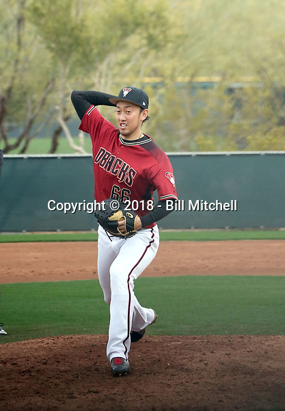 Yoshihisa Hirano - Arizona Diamondbacks 2018 spring training (Bill Mitchell)