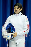Saki Nakano (JPN),<br /> AUGUST 5, 2013 - Fencing :<br /> World Fencing Championships Budapest 2013, Women's Individual Epee Qualifications at Syma Hall in Budapest, Hungary. (Photo by Enrico Calderoni/AFLO SPORT) [0391]