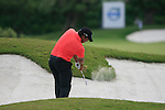 Jhonattan Vegas (VEN) plays his 2nd shot from a fairway bunker on the 16th hole during the afternoon session on Day 2 of the Volvo World Match Play Championship in Finca Cortesin, Casares, Spain, 20th May 2011. (Photo Eoin Clarke/Golffile 2011)