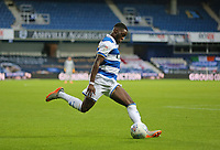 Aramide Oteh of Queens Park Rangers crosses the ball during Queens Park Rangers vs Fulham, Sky Bet EFL Championship Football at the Kiyan Prince Foundation Stadium on 30th June 2020