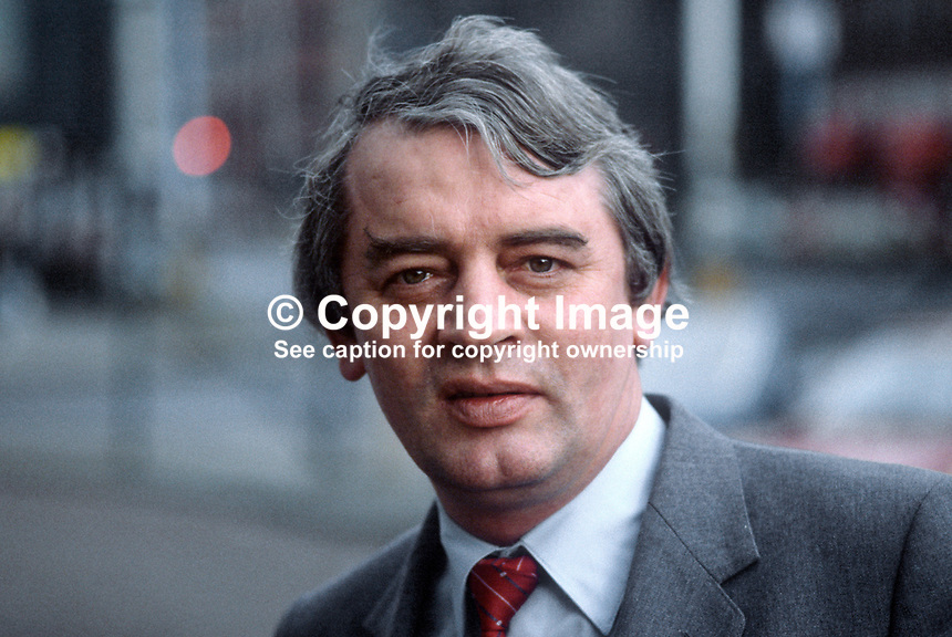 Austin Currie, member of N Ireland Assembly, founder member, SDLP, Social Democratic &amp; Labour Party, N Ireland, 19840009AC.<br />