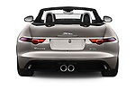 Straight rear view of a 2018 Jaguar F-Type R Dynamic 2 Door Convertible stock images